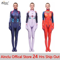 Neon Genesis Evangelion Ayanami Rei Asuka Langley Soryu Mari Makinami Cosplay Costume for Women EVA Zentai Bodysuit Jumpsuit