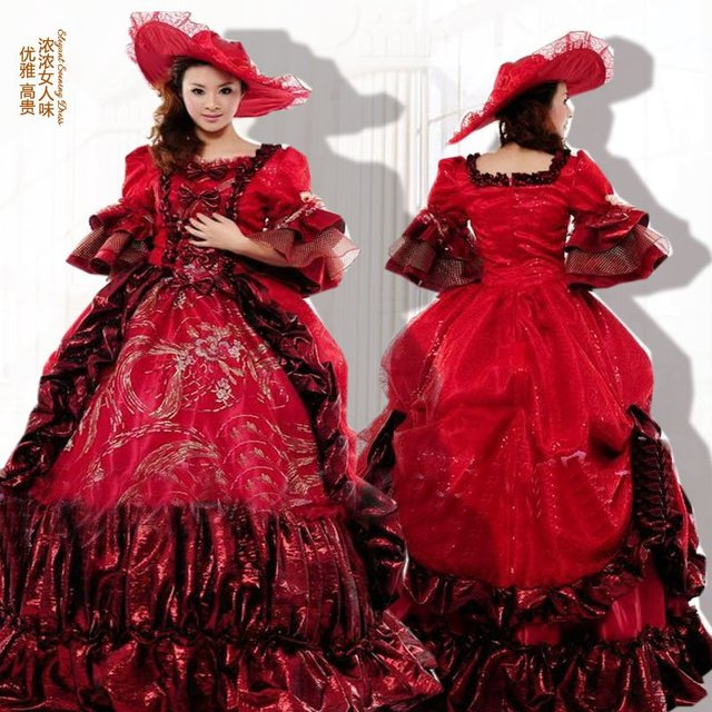 03223c9ee99 Customer-made!19 century Red Victorian Dresses 1860s Civil War dress  Southern Belle Gown Ball Scarlett dresses US4-36 G-027