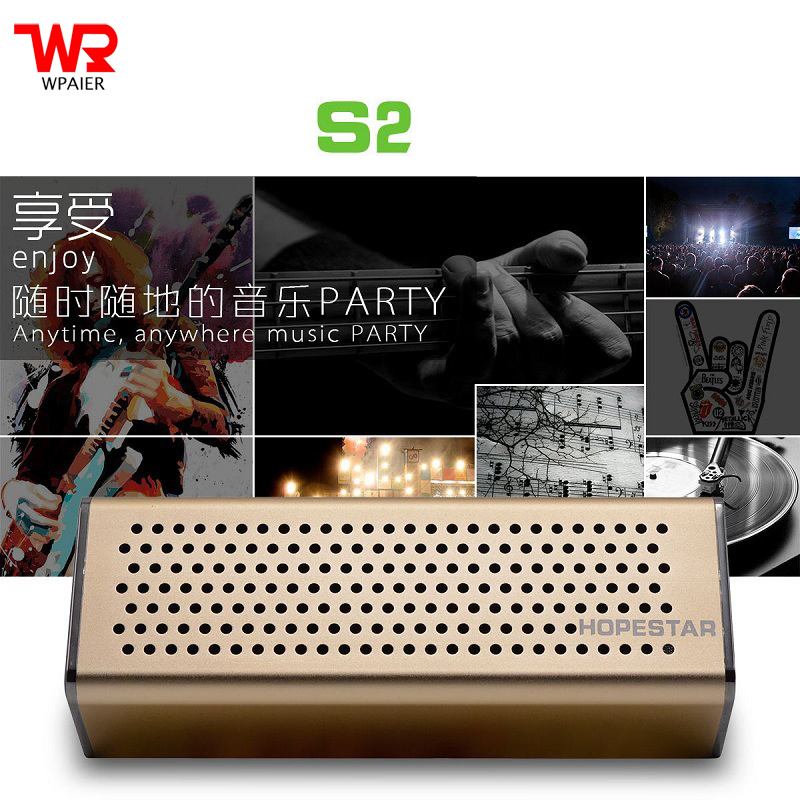 WPAIER HOPESTAR S2 Metal Wireless Bluetooth speakers outdoor portable speakers Subwoofer audio aluminium alloy Support TF card