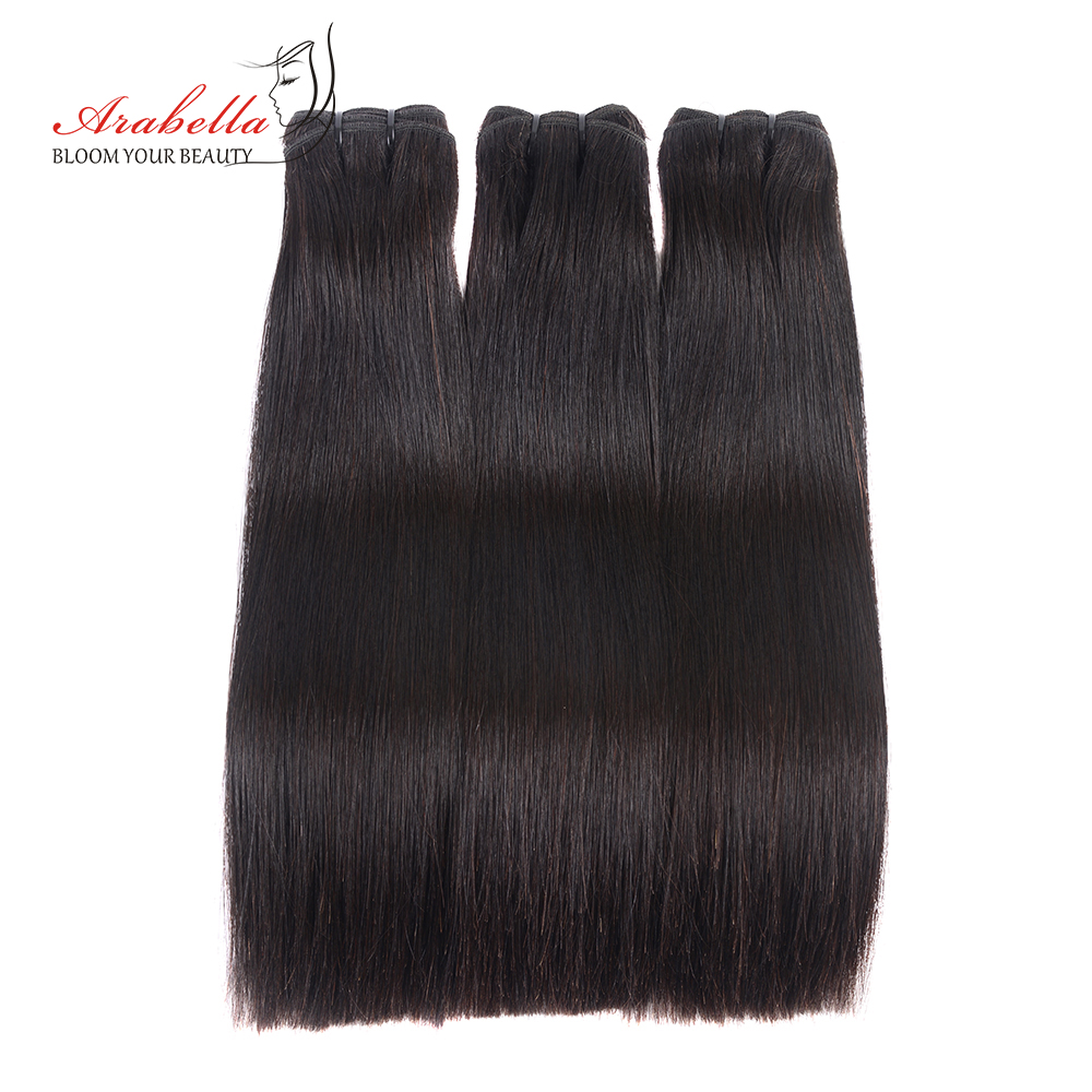 Double Drawn Hair Extension Brazilian Straight Hair Weave Bundles 100 Human Hair Arabella Thick Ends Natural