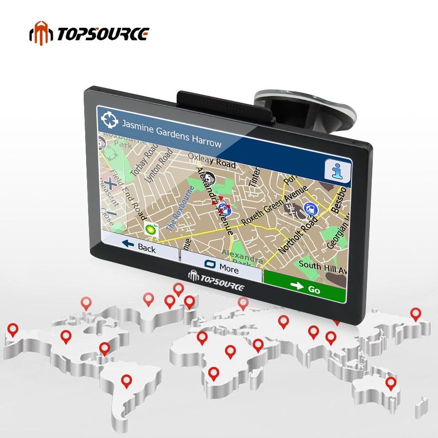 TOPSOURCE TS708 7 tommers bil GPS-navigasjon 800MHZ FM 8GB 2018 - Bilelektronikk - Bilde 5