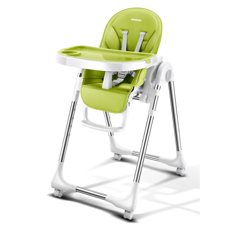 chair for baby leather club portable high foldable highchairs feedding adjustable booster seat dinner table with four wheels in from mother
