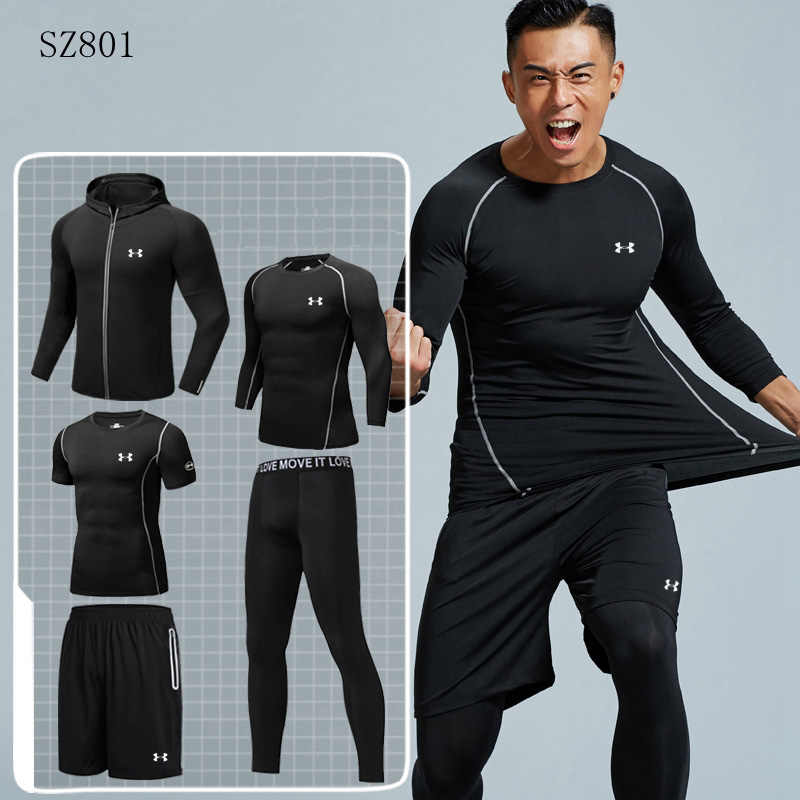 74843866ee3 Under Armour Для мужчин спортивная одежда спортивный мужчина тренажерный  зал работает комплекты быстрое высыхание комфортно спортивный