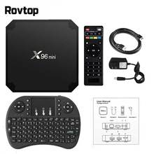 Rovtop X96 Mini Smart TV Box Android 7.1 OS 4K Set Top Box 2GB 16GB Amlogic S905W Quad Core X96mini 1GB 8GB WiFi Set Top Box