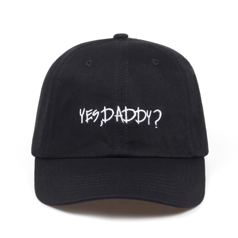 high quality brand Yes ,Daddy? Embroidered Adjustable golf Cotton Cap Dad Hat Black baseball cap men women Hip-hop snapback cap 2017 fashion papi unstructured baseball dad hat cap new men women cotton adjustable baseball cap black