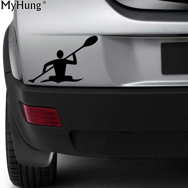 10cm15cm new dynamic games kayak paddle water lake car stickers funny creative cartoon vinyl