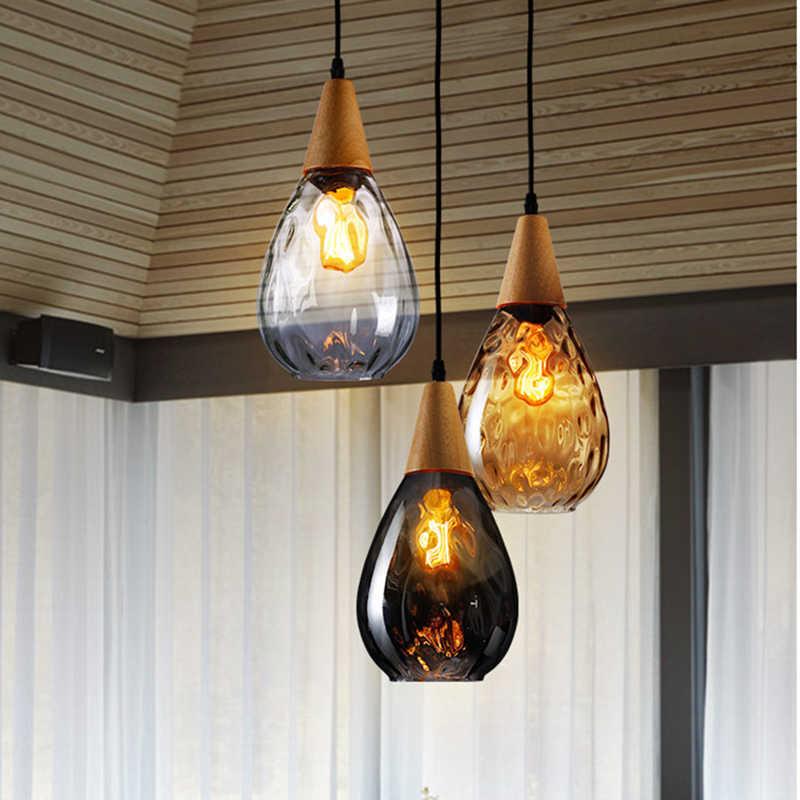 Современный Креативный Европейский стеклянный подвесной светильник светодиодный E27 с 3 цветами для спальни/ресторана/гостиной/кухни/кафе/отеля/офиса