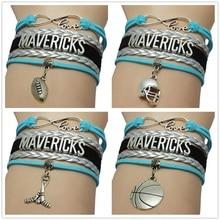 Top Quality Infinity Love MAVERICKS basketball Team Bracelet college Customize sports Wristband friendship Fans Bracelets