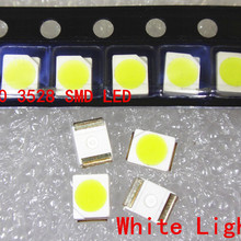 100 шт. 3528 Белый супер яркий светильник диод 1210 SMD СВЕТОДИОДНЫЙ