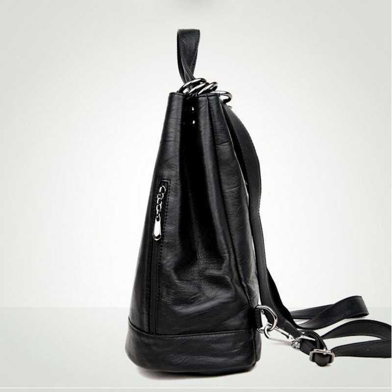 Moda Nuove Donne Multifunzione Zaino di Cuoio DELL'UNITÀ di elaborazione Nero Bagpack Femminile Zaino borsa A Tracolla grande Borsa Da Viaggio capienza L8-114