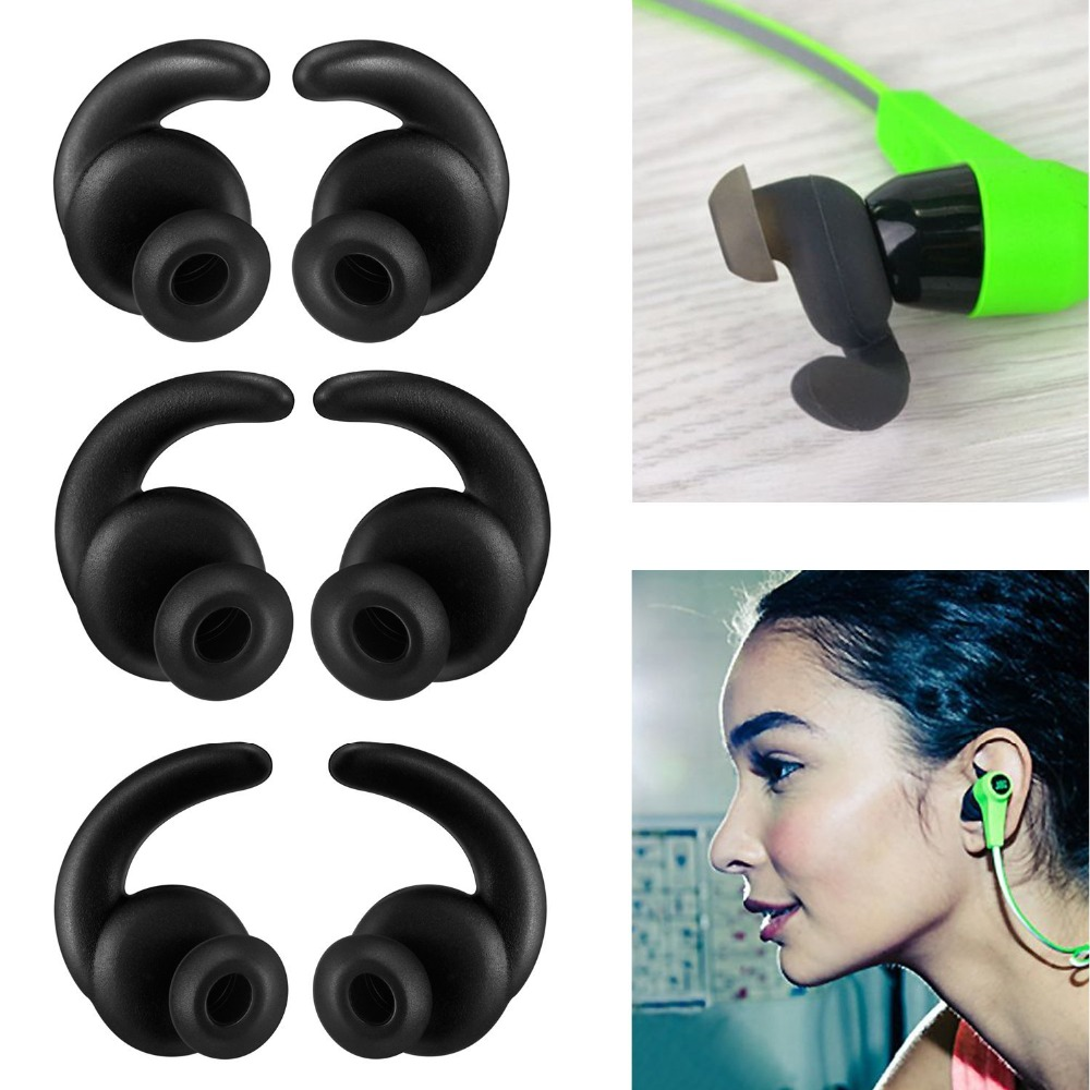 12Pieces Earbud Covers Wallytech Replacement Eartip Earbud hooks for Synchros Reflect BT & Mini BT Sport Earphones