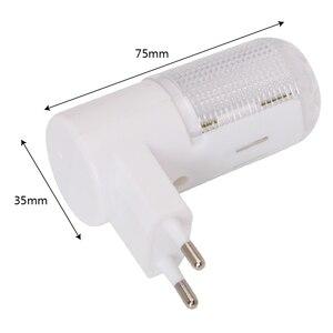 Image 3 - 비상 조명 벽 램프 홈 조명 LED 야간 조명 EU 플러그 침대 옆 램프 벽 마운트 에너지 효율적인 4 LED 3W