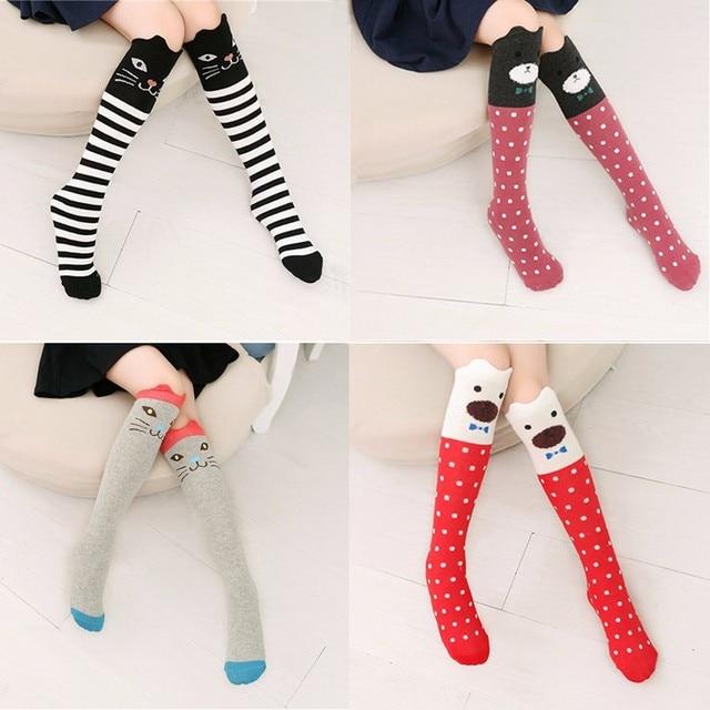 977d11c47 1 Pair Lovely Baby Kids Toddlers Girls Knee High Socks Tights Leg Warmer  Stockings