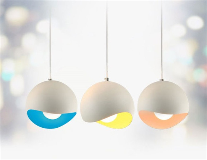 aluminum round pendant lamps bar in front of the cashier store decoration creative new combination pendant lamps managing the store