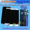 Alta qualidade da tela de toque de vidro + display lcd digitador assembléia para xiaomi 5 mi 5 mi5 m5 telefone inteligente branco ouro preto dom gratuito