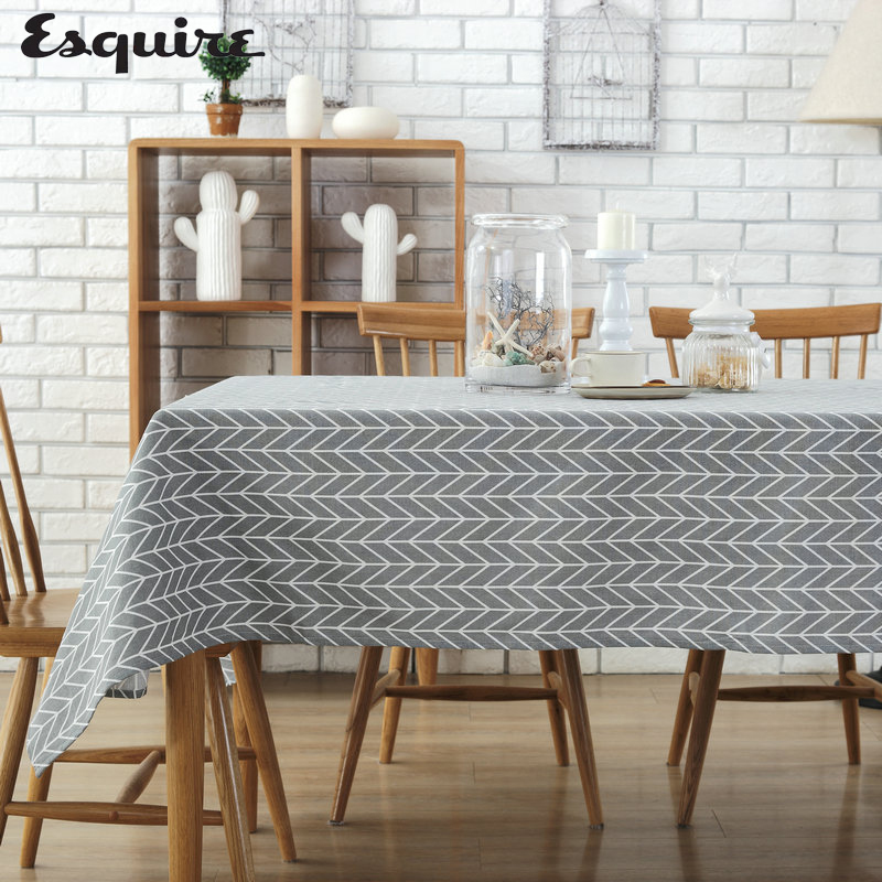 ESQUIRE Modern Minimalist Tablecloths Waterproof Lattices Tablecloths Restaurant Home Hotel Conference Table Cloth Cover Towel