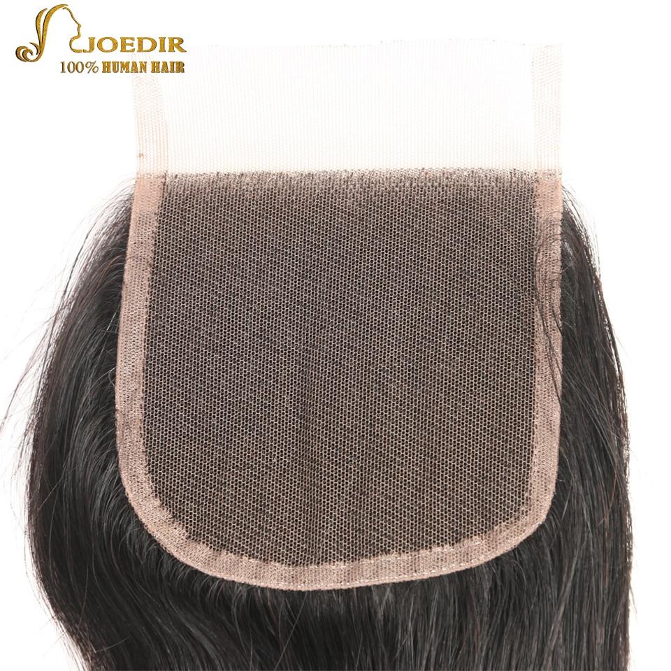 JOEDIR Hair Brazilian Body Wave Lace Closure 4x4 Fria / Mellersta / - Barbershop - Foto 4