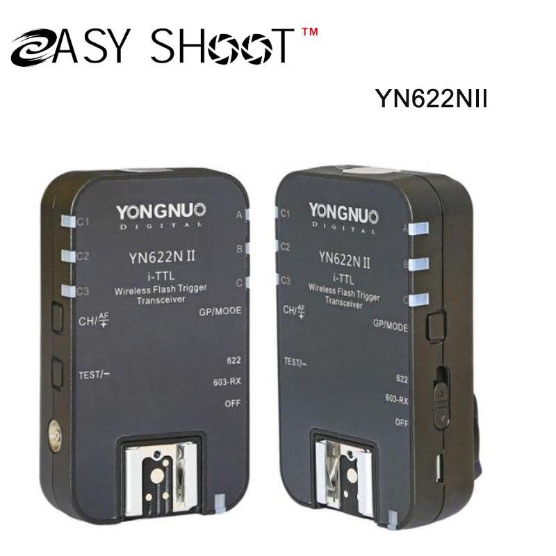 Yongnuo Новый Модернизированный YN-622NII YN622NII Беспроводной Ttl-вспышки Триггера 2 Трансиверы HSS 1/8000 s Для камеры Nikon