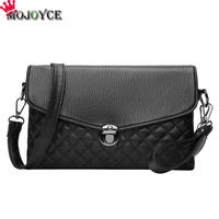 MOJOYCE Women Messenger Crossbody Bags Sling Shoulder PU Leather Envelope Handbag Clutch Female Generous Casual Solid