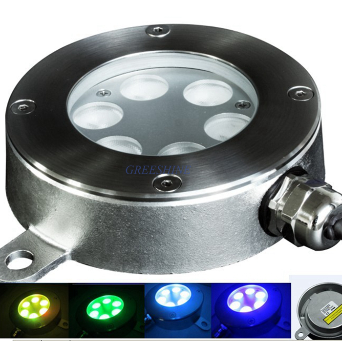 купить High Quality 304/316 stainless steel 24V 18W Underwater Pond Light White IP68 waterproof DMX Fountain LED Light Multicolor по цене 16965.38 рублей