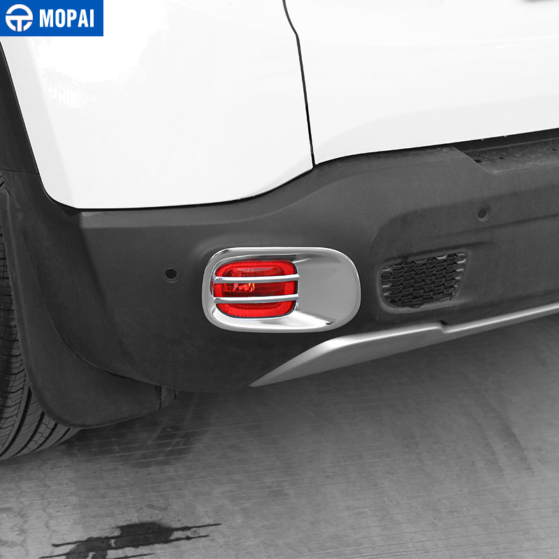 Image 3 - MOPAI Metal Car Rear Tail Fog Light Lamp Cover Decoration Trim for Jeep Renegade 2015 Up Exterior Accessories Car Styling-in Lamp Hoods from Automobiles & Motorcycles
