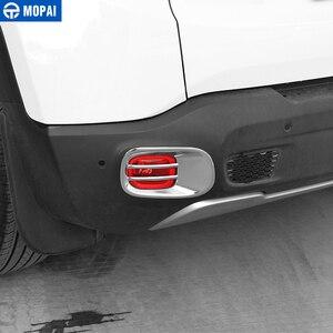 Image 3 - MOPAI luz antiniebla trasera de Metal para coche, cubierta decorativa para Jeep Renegade 2015, accesorios para Exterior, decoración para coche