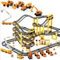 Дети сплав инженерной автомобиль трек комплект многослойная сборки головоломки игрушки мальчики подарок brinquedo menino juguetes