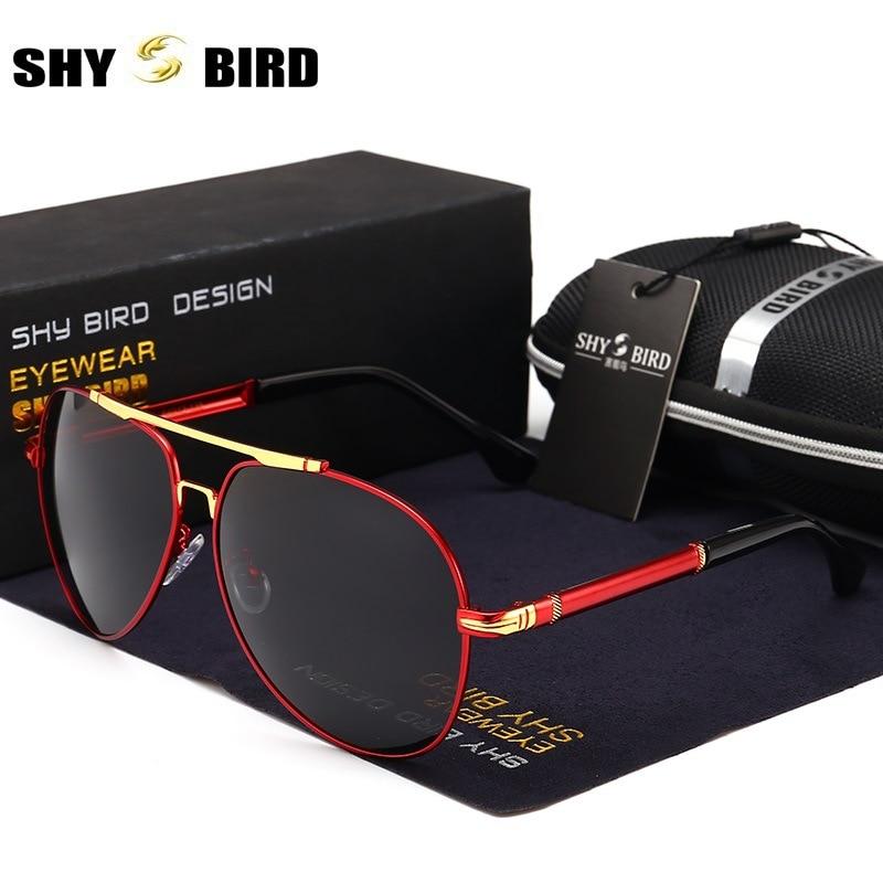 Luxury Brand Design Original Sunglasses Men Polarized Oval Alloy Vintage Male Sun Glasses Driver Glasses Driving