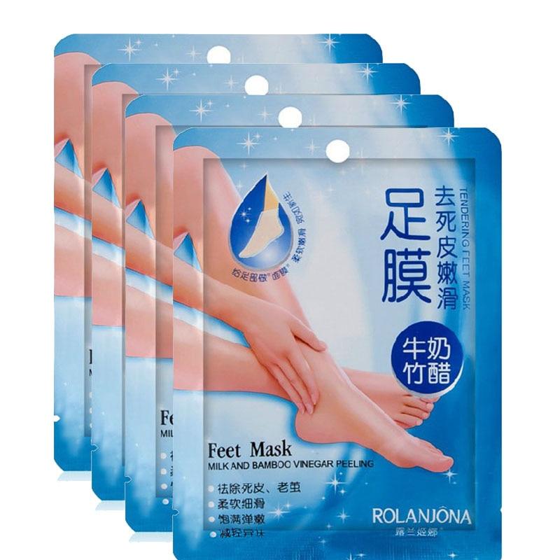 5 Pair (10pcs) Super Exfoliating Foot Mask Socks For Pedicure Socks Peeling Feet Mask Care Beauty