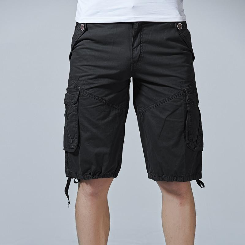 Summer 2018 Men Shorts Casual Mens Fashion Cargo Shorts Male Army Workout Short Homme Cotton Big Pocket Shorts Mensshortspant