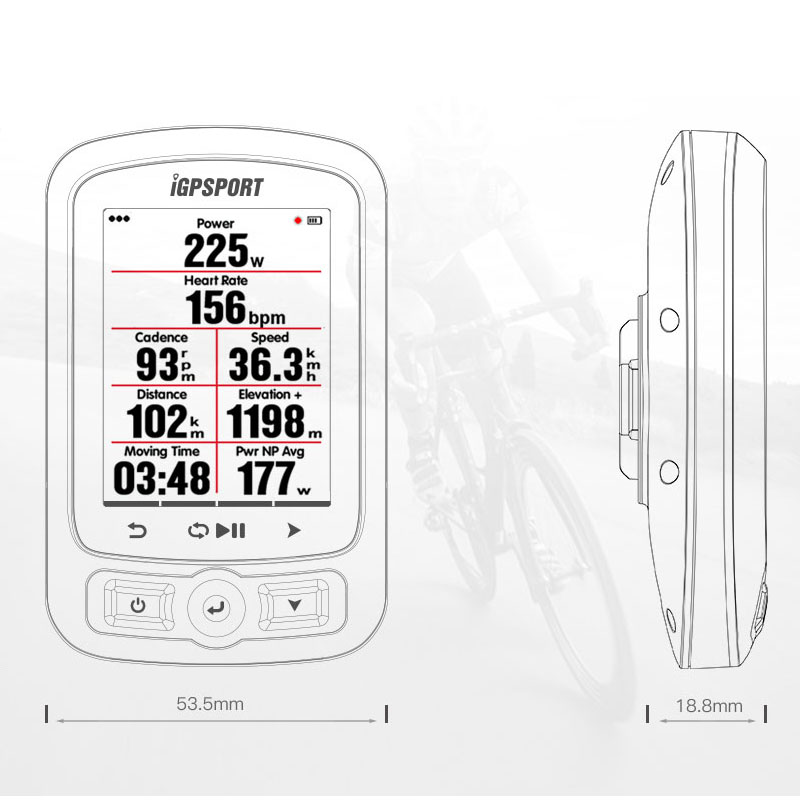 Image 4 - iGPSPORT Cycling Wireless Computer ANT+ Bicycle Speedometer IGS618 Bike Heart Rate Speed Cadence Sensor Computer Accessories-in Bicycle Computer from Sports & Entertainment