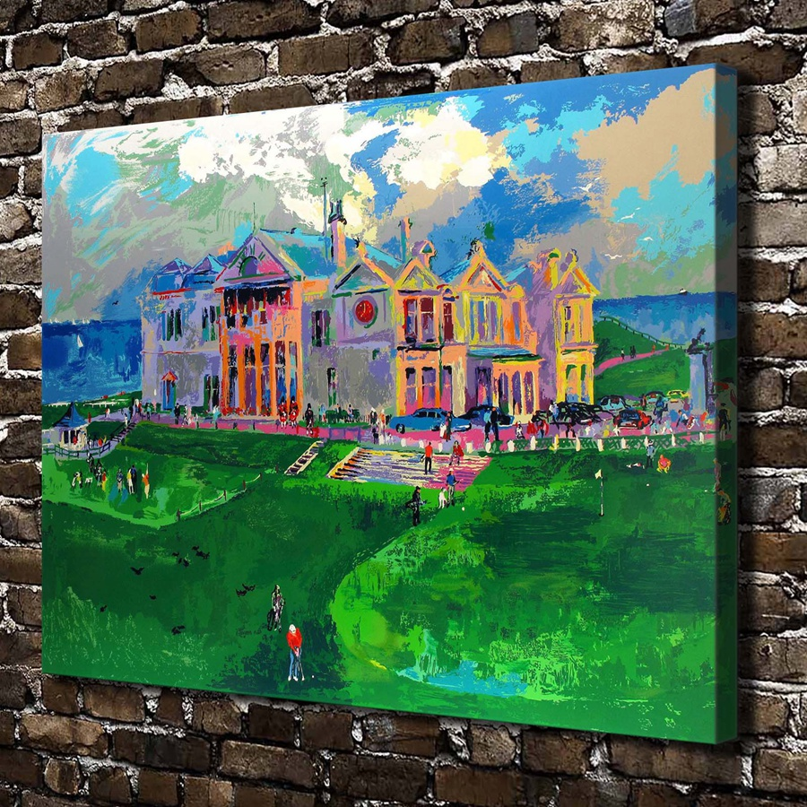A1882 LeRoy Neiman Abstract Golf Course Scenery,HD Canvas Print Home decoration Living Room bedroom Wall pictures Art painting