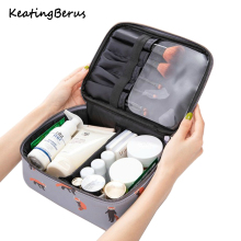 New Waterproof PU Cosmetic Bag Woman Portable portable MakeUp Organizer Big capacity Travel  Makeup Case