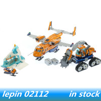 Lepin 02112 lepin City Series the Arctic Supply Plane Set Building Blocks Bricks Legoing 60196 legoing Arctic Supply Plane toys
