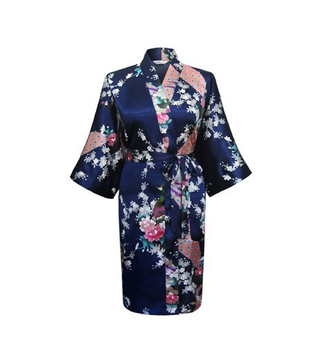New Arrival Chinese Women Summer Silk Sleepwear Sexy Mini Robe Dress  Printed Kaftan Bath Night Gown Flower One Size Z01USD 12.75 piece ... db763e42d