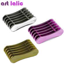 Nail Art Brushes Pen Holder Stand for 5pcs Makeup Nail Art Brush Tools 3 Metallic Color for Choice