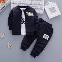 IAiRAY 3 Pcs Baby Boy Clothing Boys Suit Cheap Clothes China Dark Blue Spring Jacket Infant