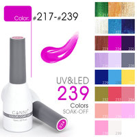 2017 CANNI Professional Nail Art Designs 239 Colors 15ml Soak off UV LED Nails Gel Polish Gel Vernish Nail Gel Lacquer