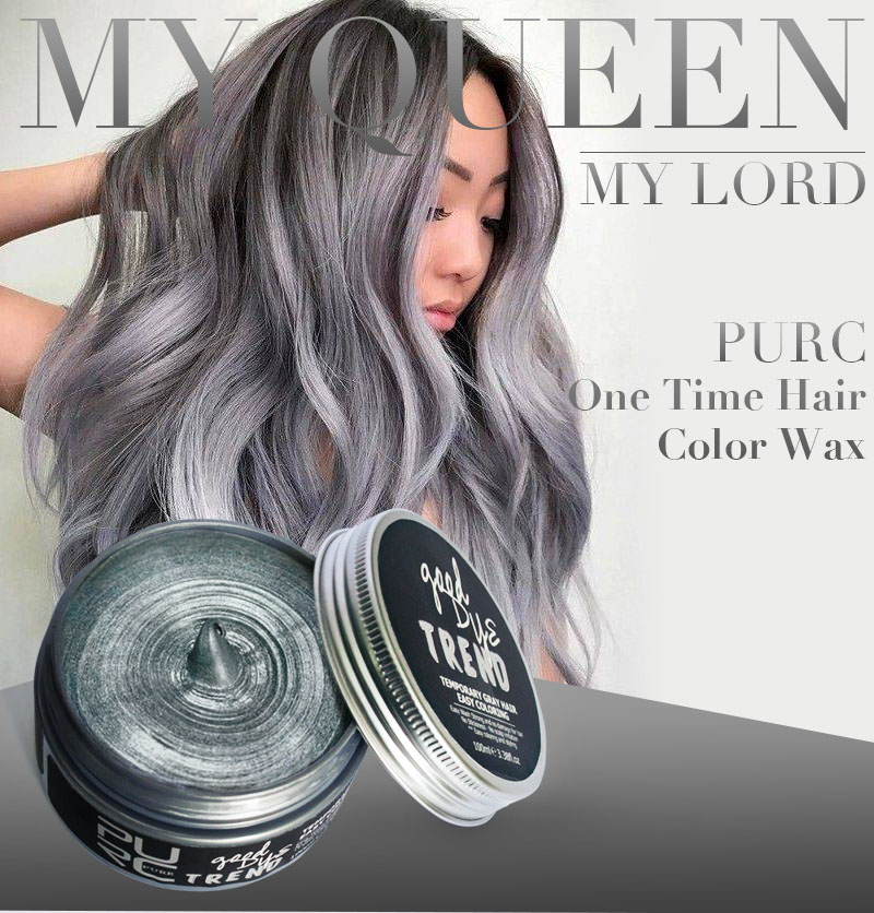 US $13 87 27% OFF|PURC 2018 good dye trend gray color one time wash hair  color 100ml instrant hair colour fashion hair care hair styling products-in