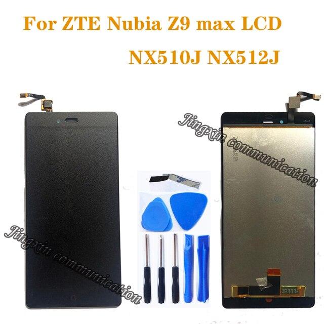 "5.5 ""ZTE Nubia Z9 Max NX510J NX512J LCD + dokunmatik ekran digitizer sensörü bileşeni ekran onarım yedek parçalar"