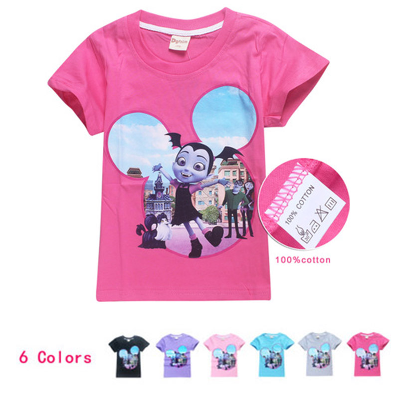 Baby Girls Clothes 2018 Summer Mickey Kids Tops Hello