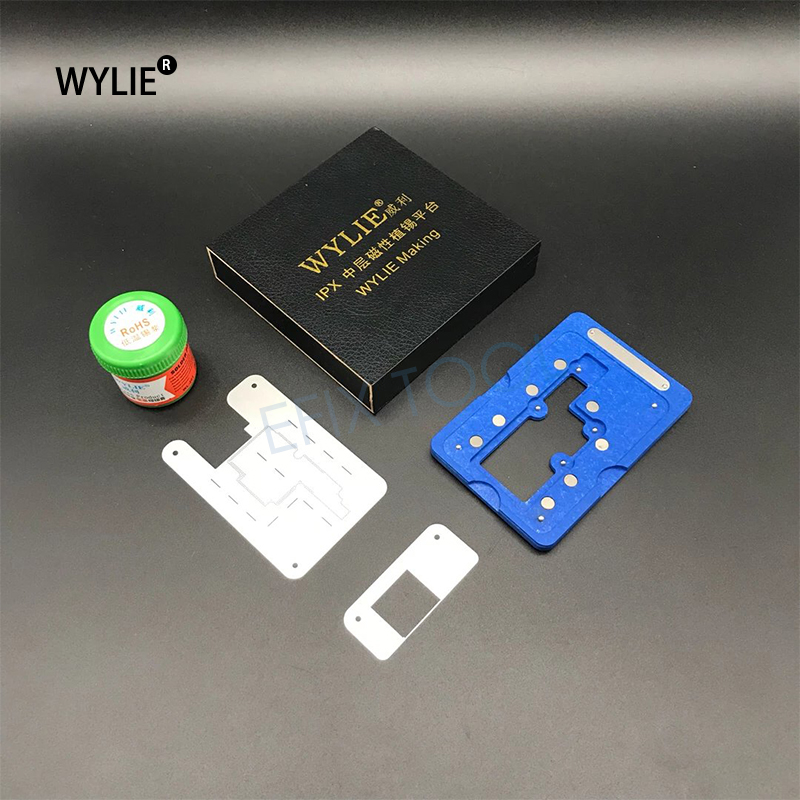 US $8 8 |Mobile Phone Motherboard PCB Repair Holder Middle Magnetic Tin  plating Platform Maintenance Fixture For iPhoneX WL B70-in Tool Parts from