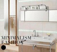 3 головок 3x3 Вт Водонепроницаемый Ванная комната лампы из нержавеющей стали кристалл зеркало бра