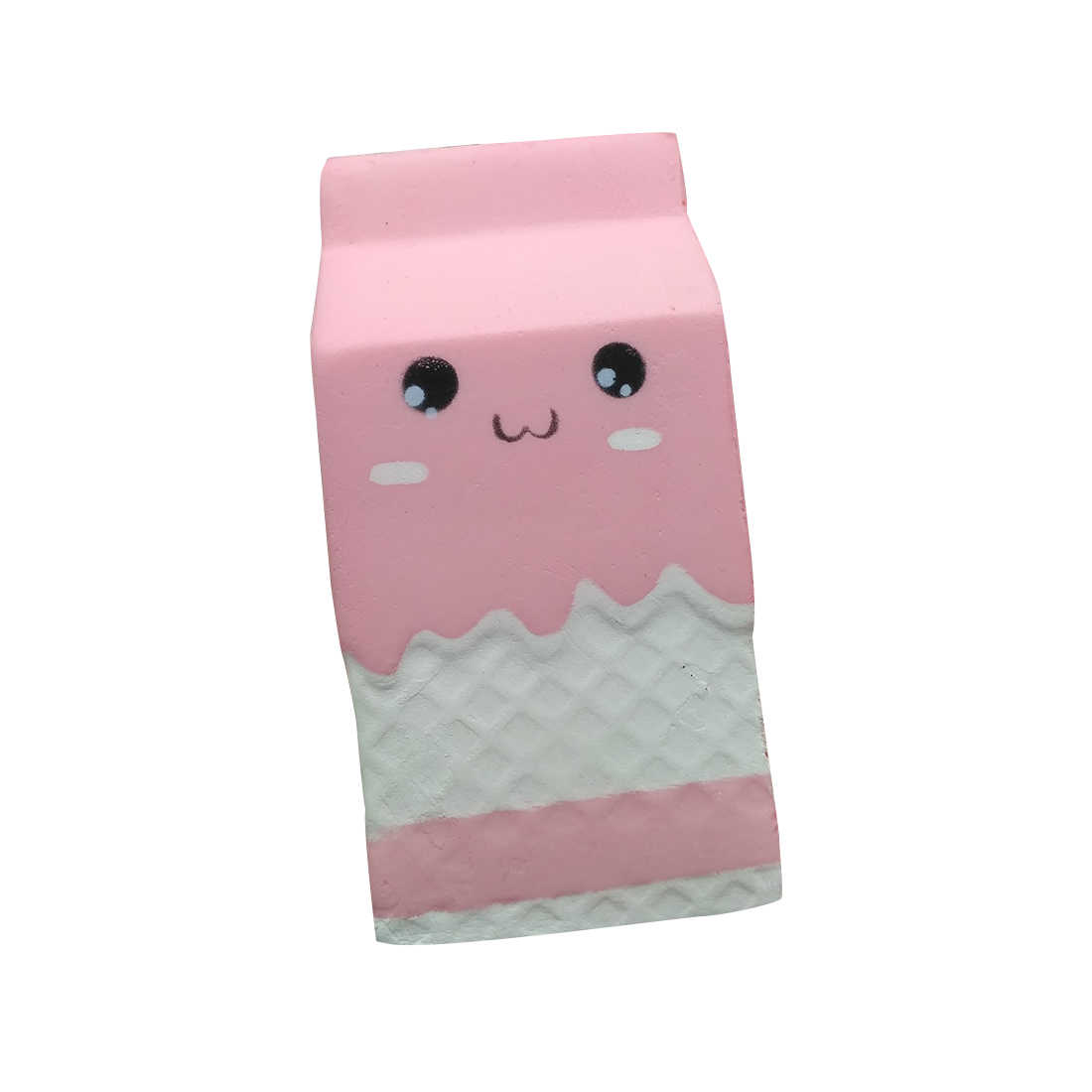 Cartoon Yogurt Box Squishy Jumbo Cartoon Expression Milk Box Slow Rising Phone Straps DIY Decor Squeeze Toys Cute Milk Bottle P2