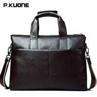 Fashion Genuine Leather Bag Business Men S Handbag Briefcase Brand Cowhide Laptop Bags Men S Travel