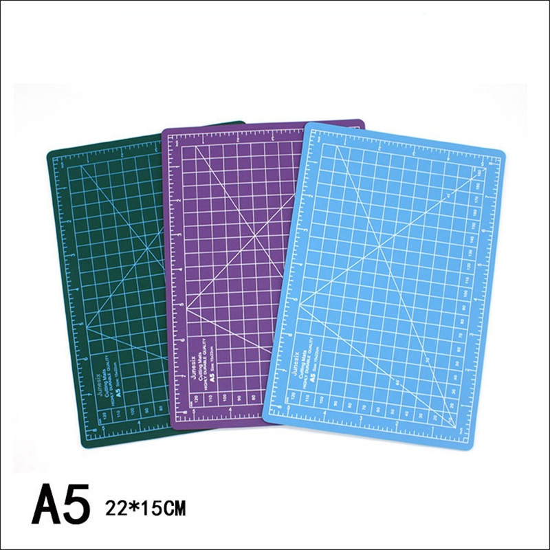 A5 PVC Cutting Mat Patchwork Cut Pad Carving Art Manual Tool Double-sided Self-healing Soft Cutter Board School Office Supplies