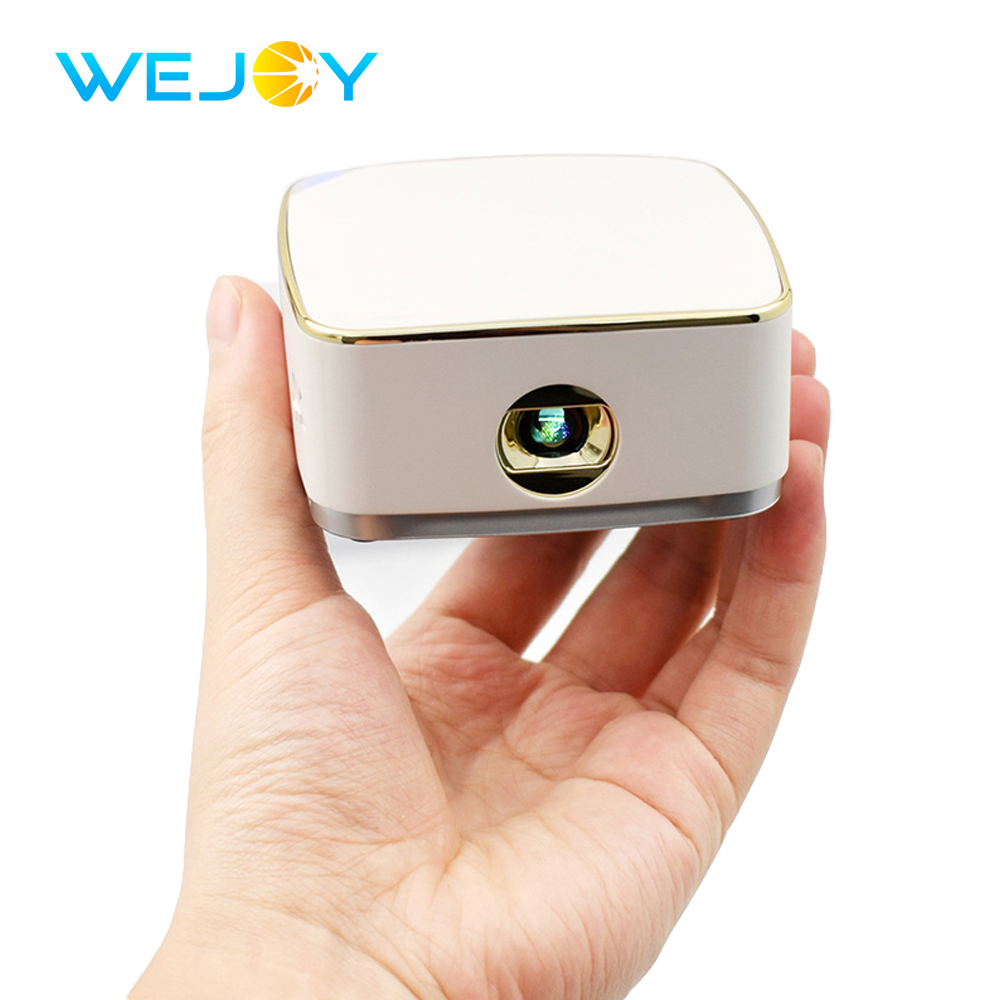 Wejoy Android 7.1 DL S8+ Handheld Pocket Mini LED Projector Factory DLP Beamer Home Theater Data Show Portable Projetor Portati