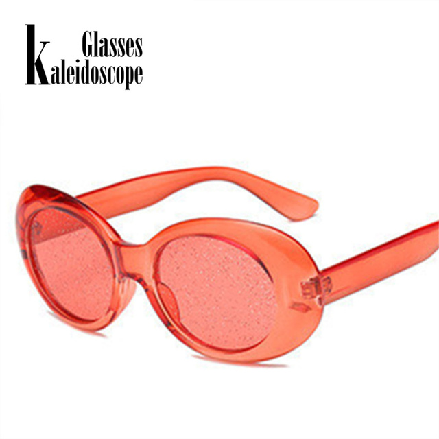 b291431079c Kaleidoscope Glasses Clout Goggles Sunglasses Vintage NIRVANA Kurt Cobain  Sun Glasses Women Clear Color Small Oval