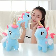 1pc Kawaii Animal Plush Toy Soft Unicorn Dolls Infant Appease Sleeping Pillow Kids Room Decor Toys Children Baby Christmas Gifts(China)