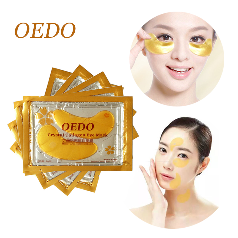 6pcs Gold Crystal Collagen Eye Mask Anti-aging Eye Patches Eye Care Eliminates Dark Circles And Fine Lines Gel Eye Mask Beauty